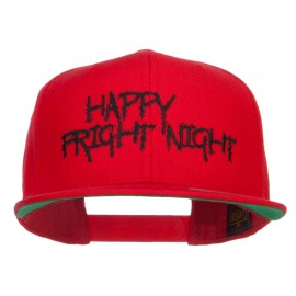 Happy Fright Night Embroidered Snapback Cap