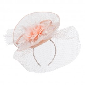 Fan Up Lace Flower Fascinator