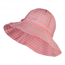 Crushable Lady's Striped Bucket Hat