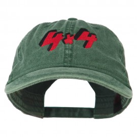 4 By 4 Embroidered Washed Cap