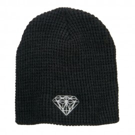 Big Size Diamond Embroidered Waffle Beanie