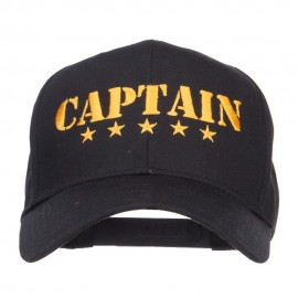 Five Stars Captain Embroidered Cap