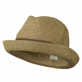 Men's Fedora with Paper Straw Braid - Tan