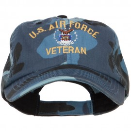 US Air Force Veteran Military Embroidered Enzyme Camo Cap