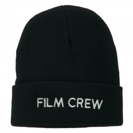 Film Crew Embroidered Long Beanie