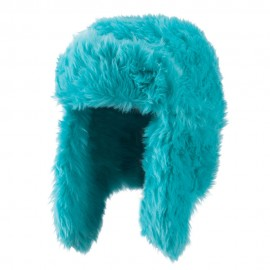 Faux Fur Color Trooper Hat - Green