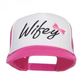 Wifey Ribboned Embroidered Foam Mesh Cap