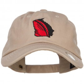 Georgia Football State Map Embroidered Unstructured Cap