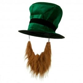 Green Top Hat with Beard - Green