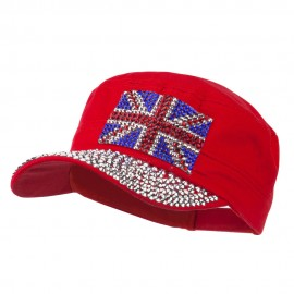 Jewel Army Cap with Great Britain Flag
