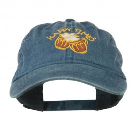 Good Times Beer Image Embroidered Washed Cap