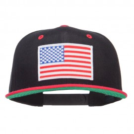 American Flag Patched Two Tone Snapback