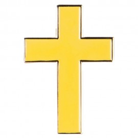 Gold Cross Lapel Pin