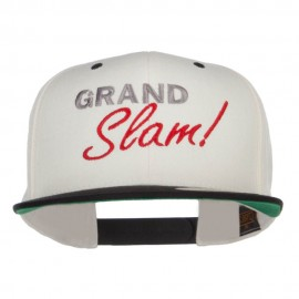 Grand Slam Embroidered Snapback Cap