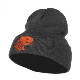 Girffin Emblem Embroidered Long Beanie