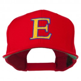 Greek Alphabet Epsilon Embroidered Flat Bill Cap