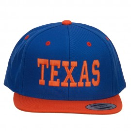 Texas Embroidered Two Tone Snapback Cap