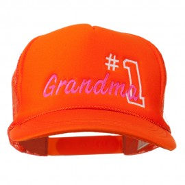 Number 1 Grandma Embroidered Youth Mesh Cap