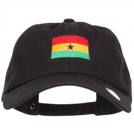 Ghana Flag Embroidered Unstructured Cap