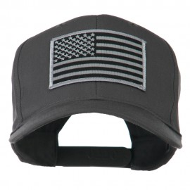 Grey American Flag Patched High Profile Cap