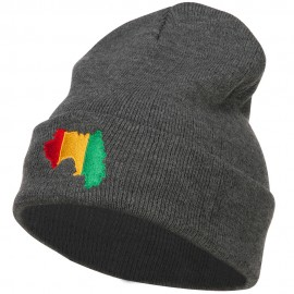 Guinea Flag Map Embroidered Long Beanie