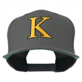 Greek Alphabet KAPPA Embroidered Flat Bill Cap