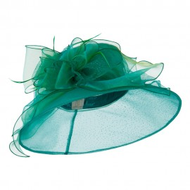 Glitter Big Bow Organza Hat