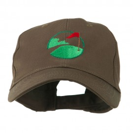 Golf Flag on the Green Embroidered Cap
