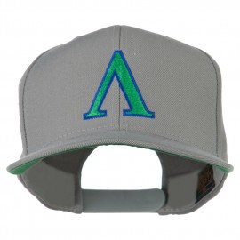 Greek Alphabet Lambda Embroidered Flat Bill Cap