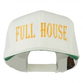 Gaming Full House Embroidered Flat Bill Cap