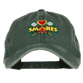 Camping Campfire Smores Patched Washed Cap