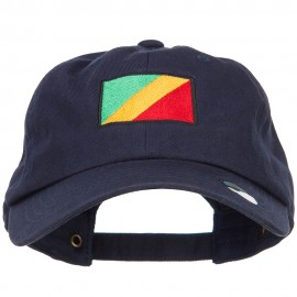 Congo Flag Embroidered Unstructured Cap