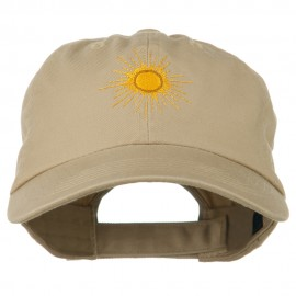 Gold Sun Embroidered Low Profile Washed Cap