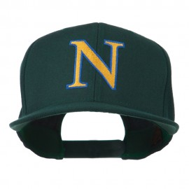 Greek Alphabet NU Embroidered Flat Bill Cap