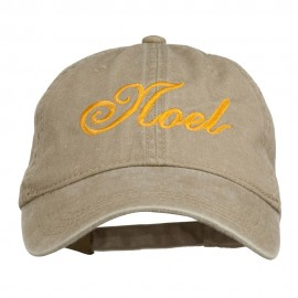 Gold Noel Embroidered Washed Cotton Cap