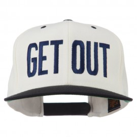 Get Out Embroidered Snapback Cap