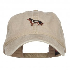 German Shepherd Dog Embroidered Washed Cap