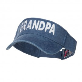 Grandpa Embroidered Washed Dyed Visor