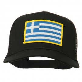 Greece Flag Patched Mesh Cap