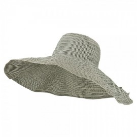 Gingham Ribbon Crushable Sun Hat