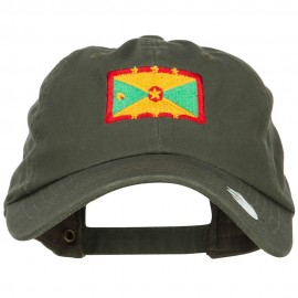 Grenada Flag Embroidered Unstructured Cap