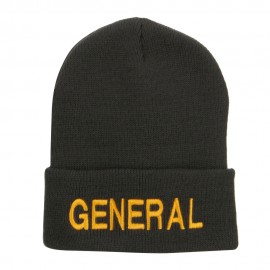 US General Embroidered Long Beanie
