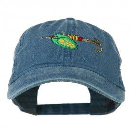 Fishing Green Spinner Embroidered Washed Cap - Navy