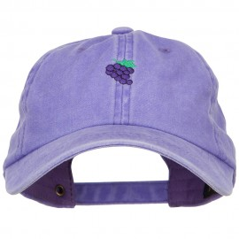 Mini Grapes Embroidered Unstructured Washed Cap