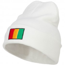 Guinea Flag Embroidered Long Beanie