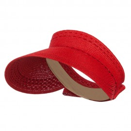 Ribbon Roll Up Gardening Visor - Red