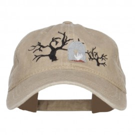 Graveyard Embroidered Washed Cap