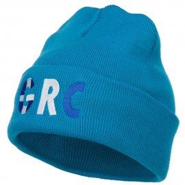 Greece GRC Flag Embroidered Long Beanie
