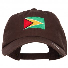 Guyana Flag Embroidered Unstructured Cap