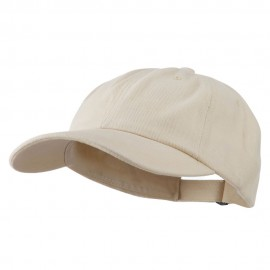 Heavy Brushed Cotton Twill Cap - Natural